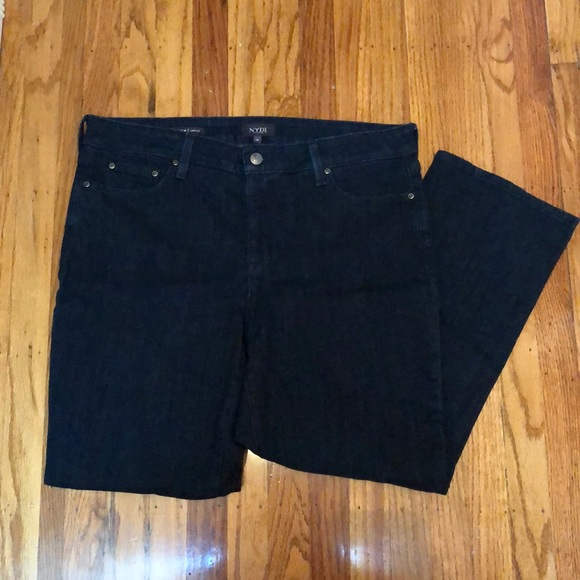 NYDJ Denim - NYDJ Marilyn ankle jean dark wash size 14